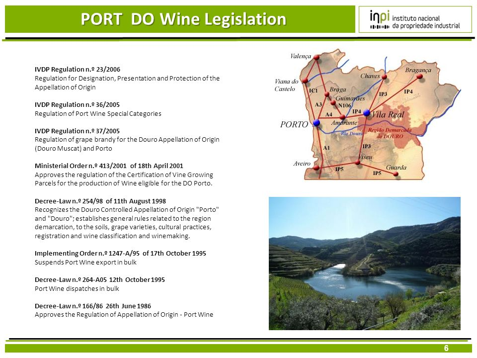 PORT DO Wine Legislation