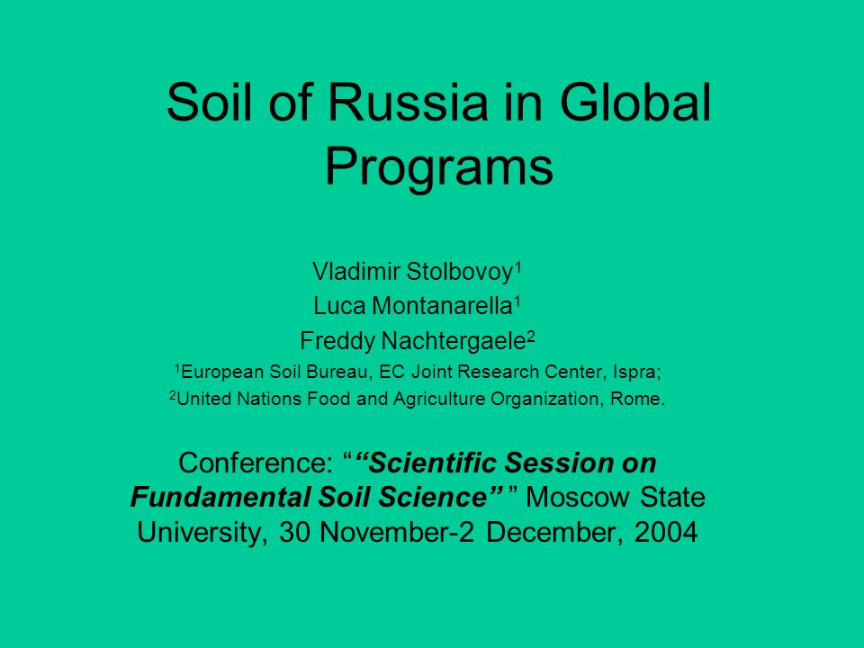 Soil of Russia in Global Programs