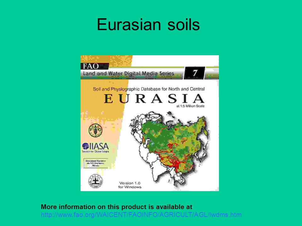 Eurasian soils More information on this product is available at