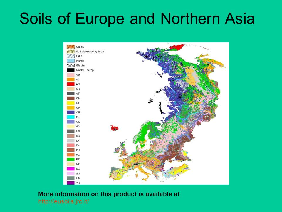 Soils of Europe and Northern Asia