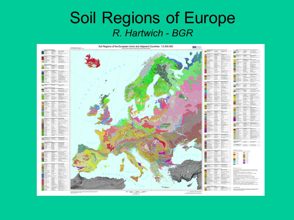 Soil Regions of Europe R. Hartwich - BGR