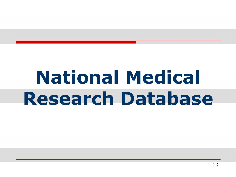 National Medical Research Database