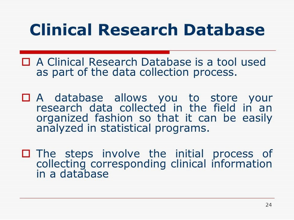 Clinical Research Database