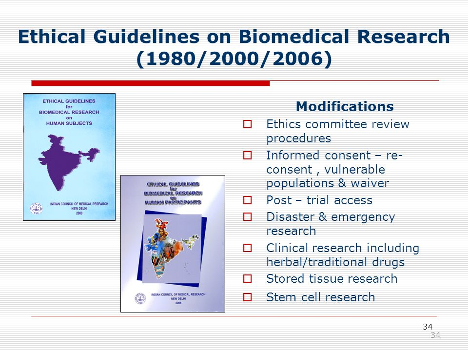 Ethical Guidelines on Biomedical Research (1980/2000/2006)
