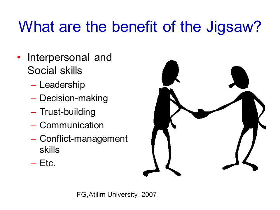 What are the benefit of the Jigsaw