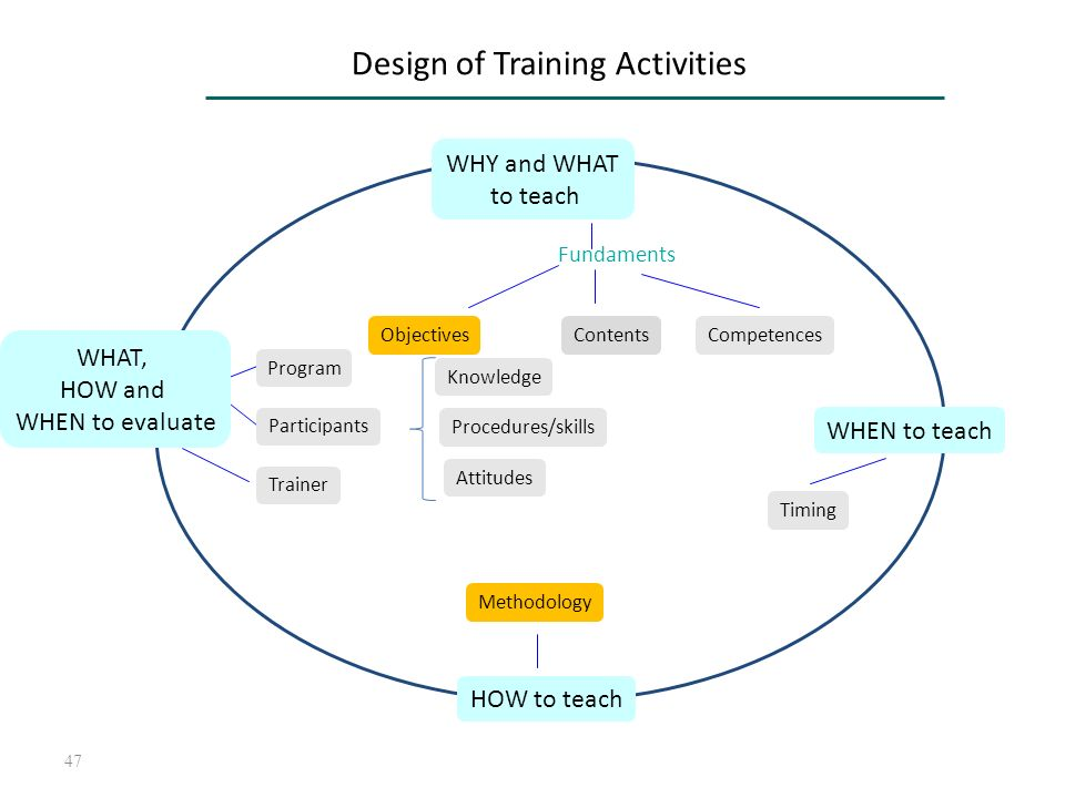 Design of Training Activities