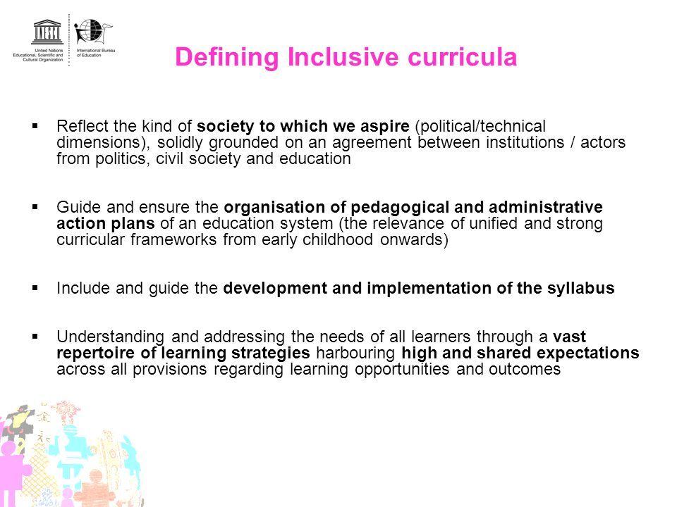 Defining Inclusive curricula
