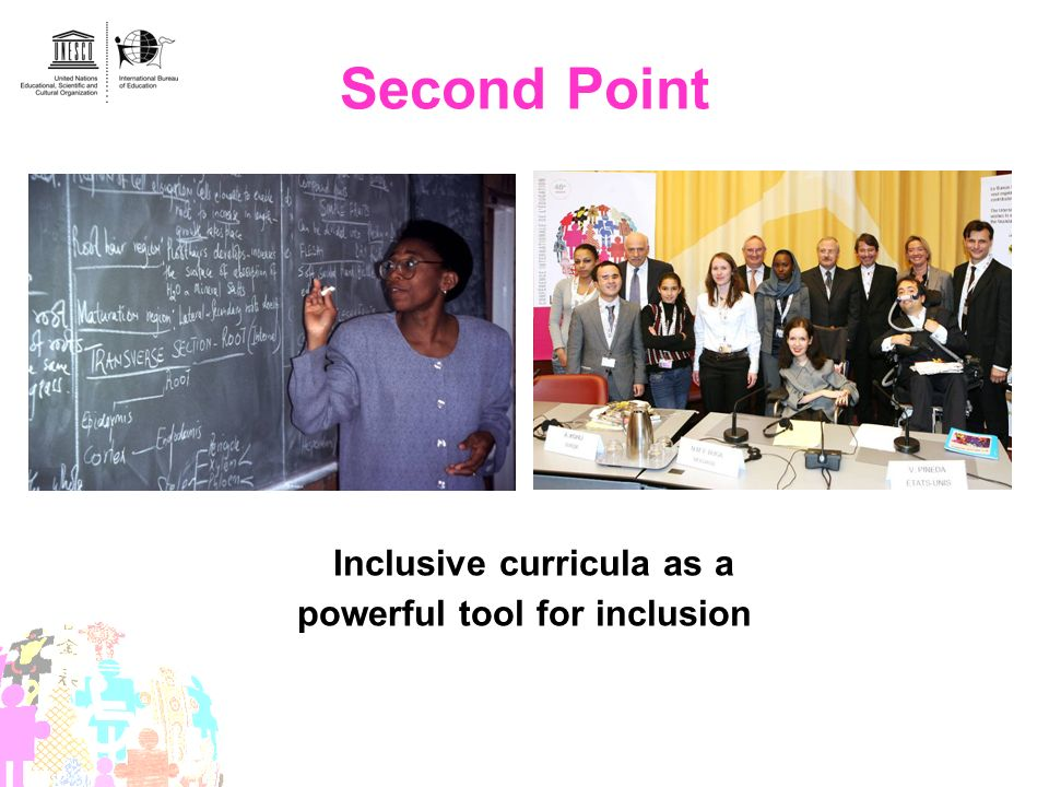Second Point Inclusive curricula as a powerful tool for inclusion