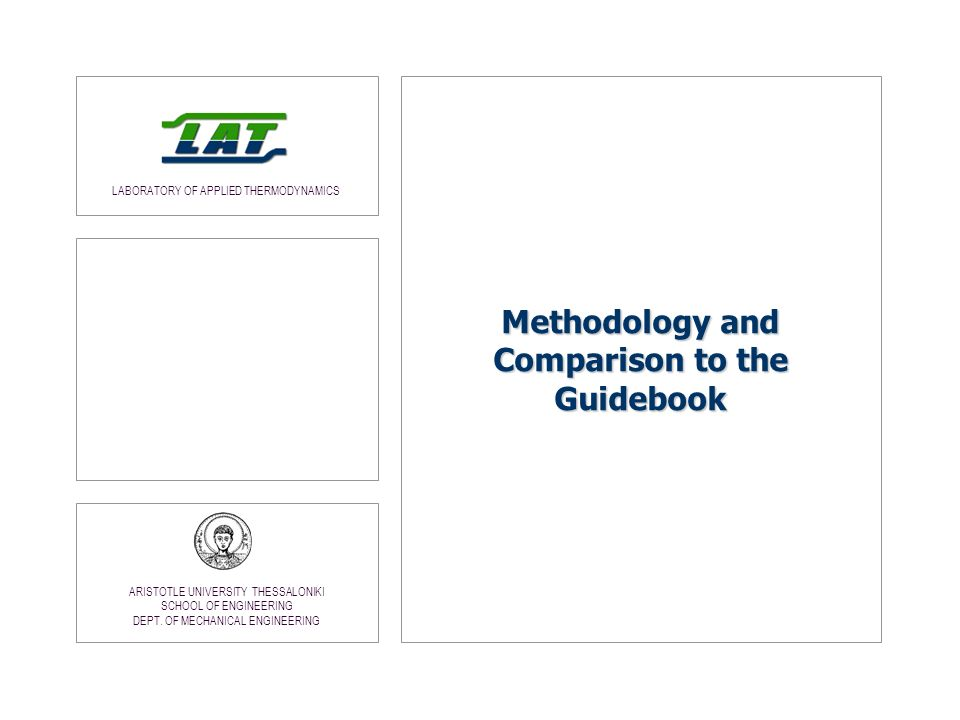 Methodology and Comparison to the Guidebook