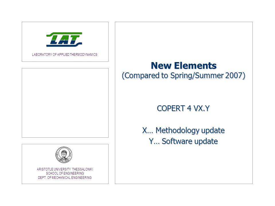 New Elements (Compared to Spring/Summer 2007)