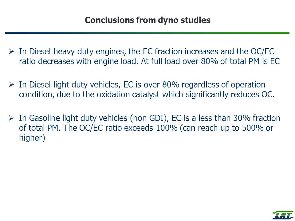 Conclusions from dyno studies