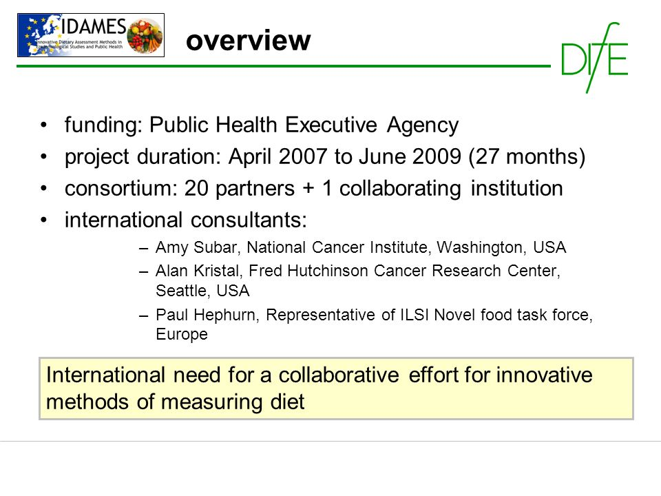 overview funding: Public Health Executive Agency