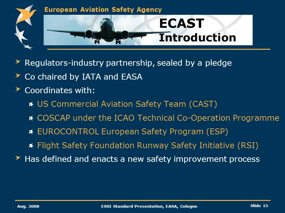 ECAST Introduction Regulators-industry partnership, sealed by a pledge