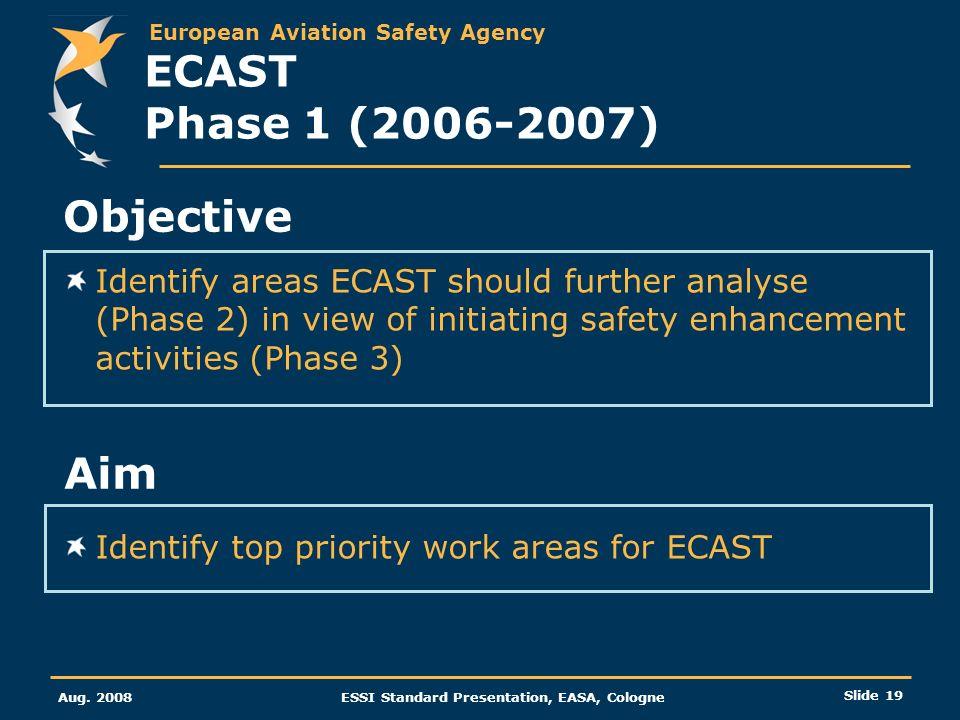 ECAST Phase 1 (2006-2007) Objective Aim