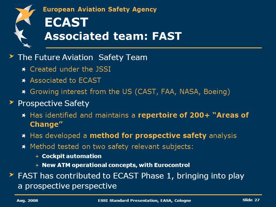 ECAST Associated team: FAST
