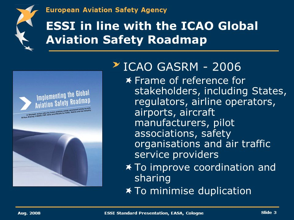 ESSI in line with the ICAO Global Aviation Safety Roadmap
