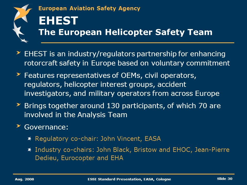 EHEST The European Helicopter Safety Team