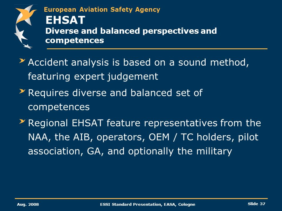 EHSAT Diverse and balanced perspectives and competences