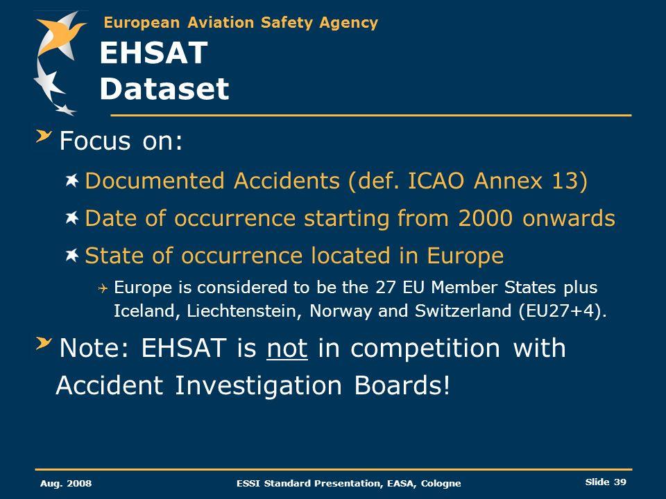 EHSAT Dataset Focus on: