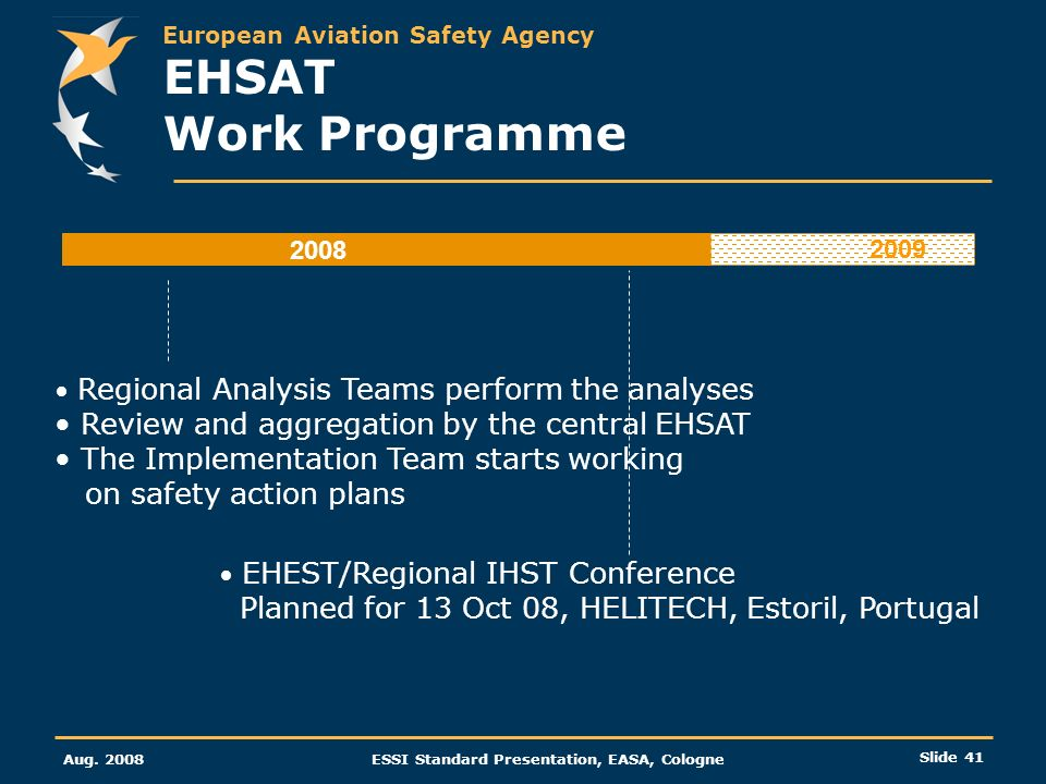 EHSAT Work Programme Review and aggregation by the central EHSAT