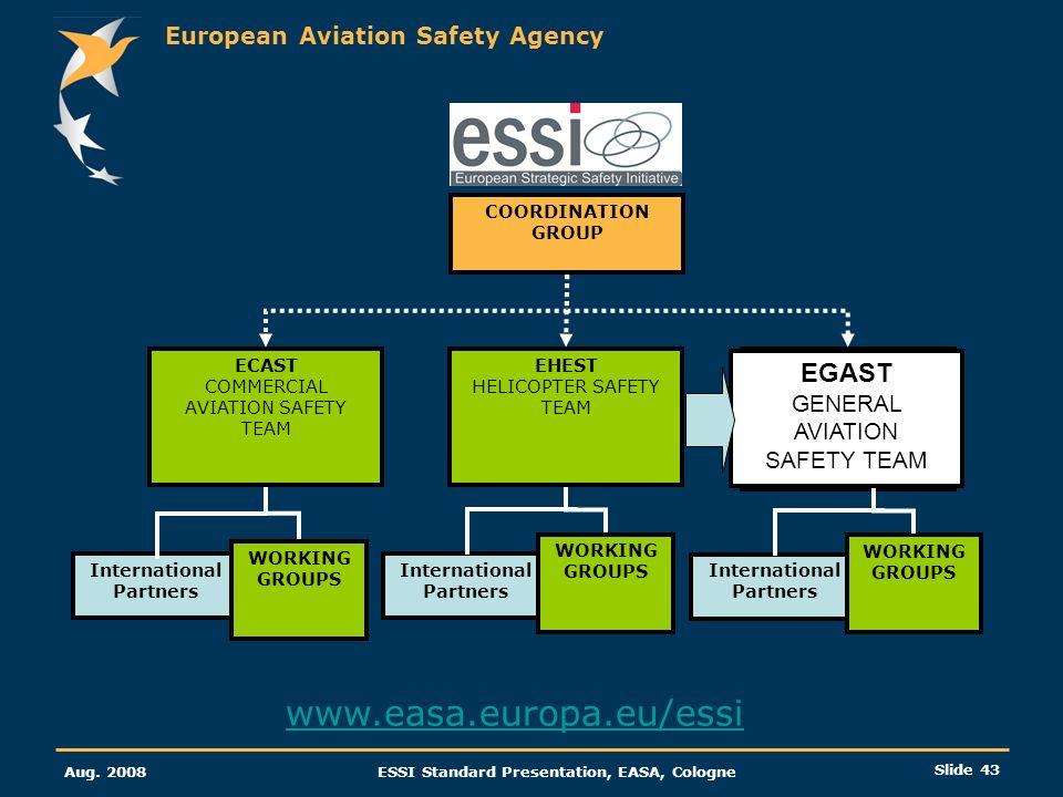 www.easa.europa.eu/essi EGAST GENERAL AVIATION SAFETY TEAM