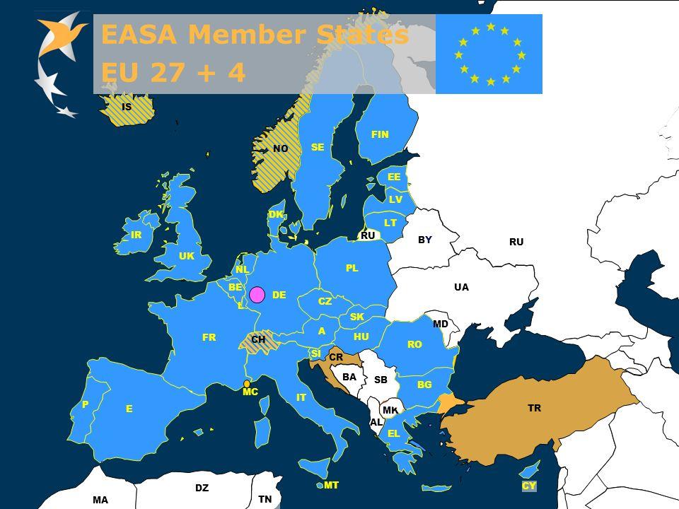 EASA Member States EU 27 + 4. IS. FIN. NO. SE.