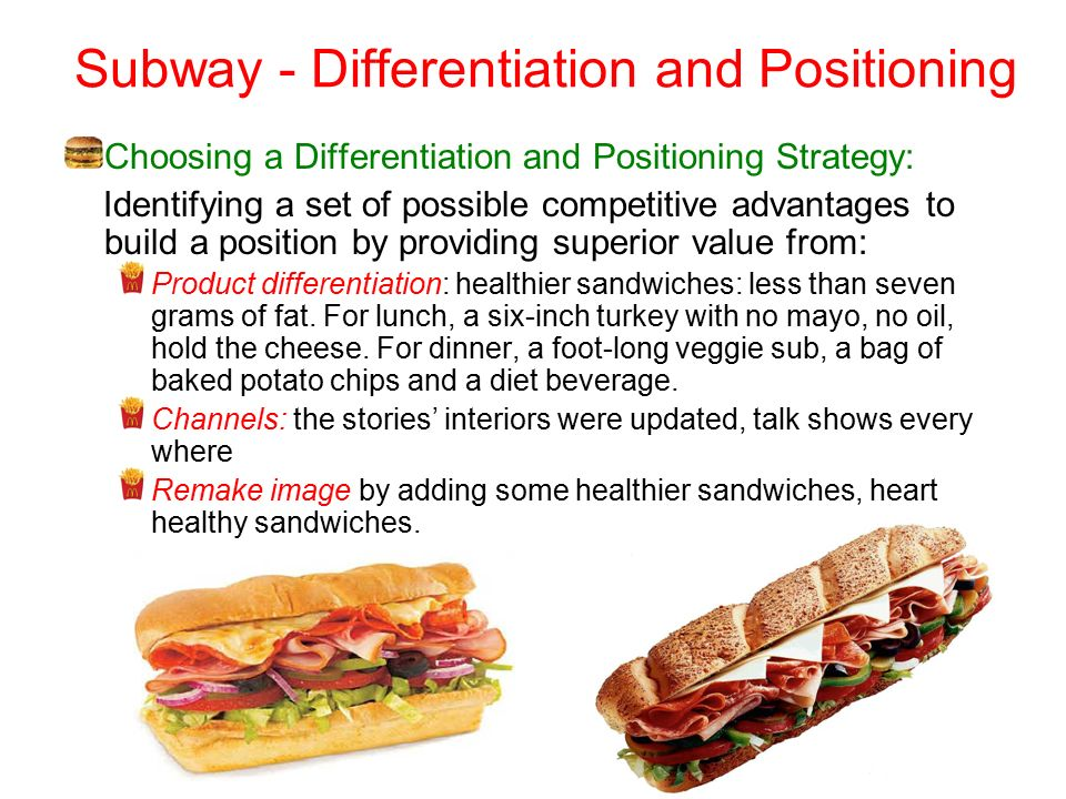 subway differentiation 17 reviews of subway ok yes i stopped here to grab breakfast and lunch for when the munchkin and i were mucking it up all over denali national park it is the cheapest best bang for your buck in the area.