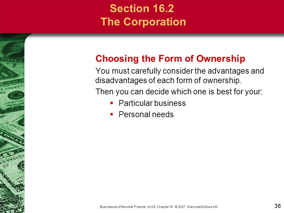 Chapter 16 Types of Business Ownership - ppt video online download