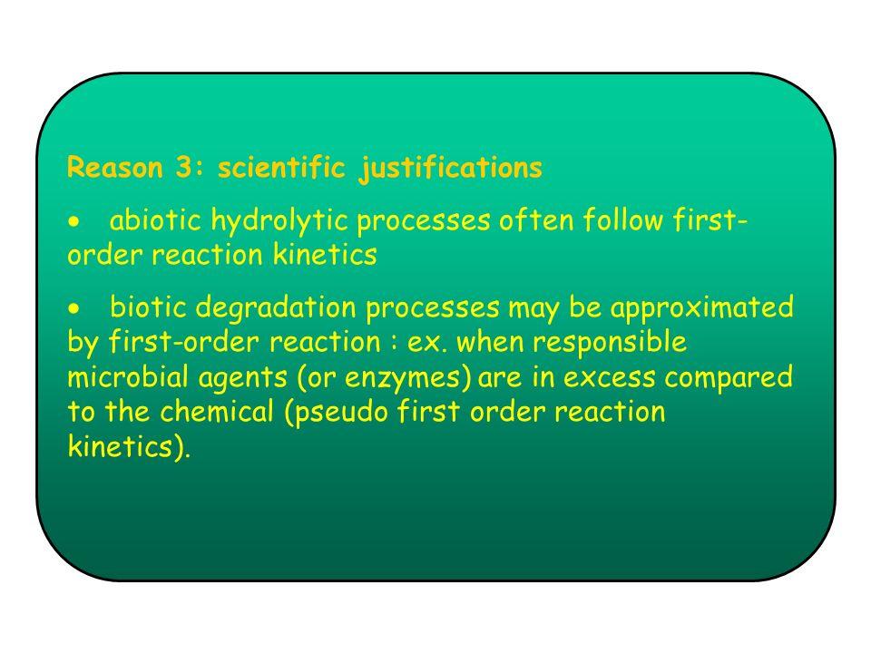 Reason 3: scientific justifications