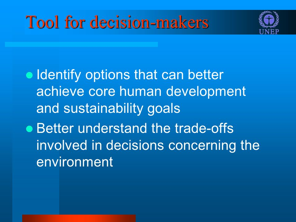 Tool for decision-makers