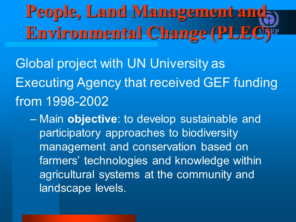 People, Land Management and Environmental Change (PLEC)