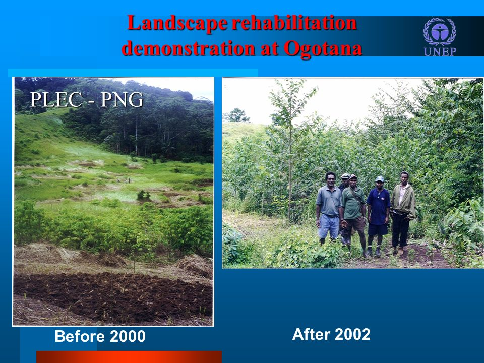 Landscape rehabilitation demonstration at Ogotana