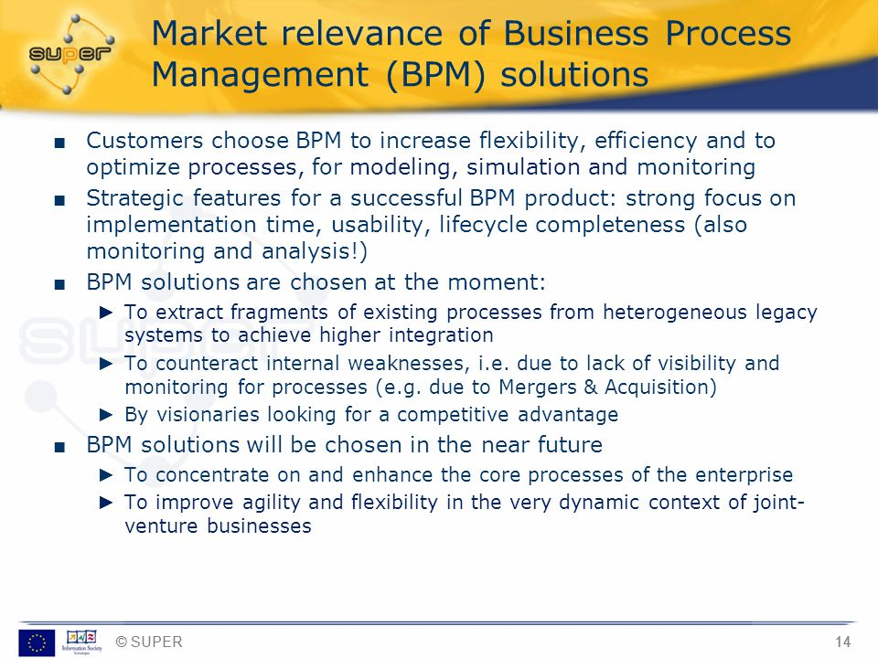 Market relevance of Business Process Management (BPM) solutions