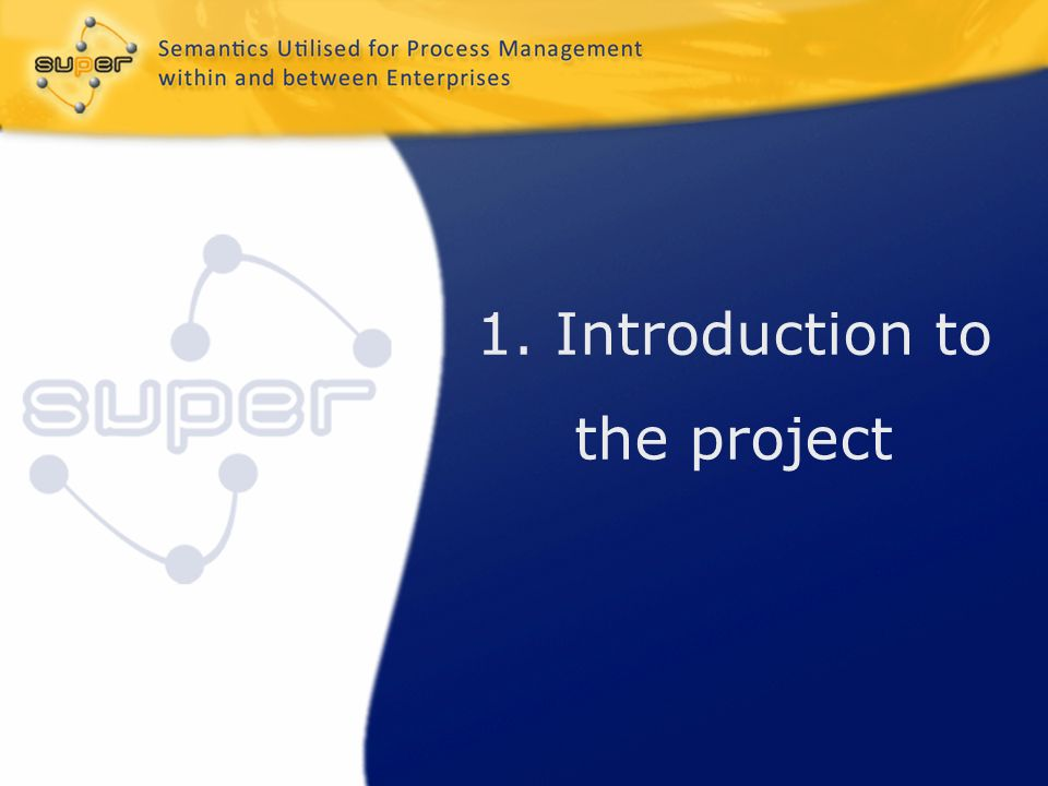 1. Introduction to the project