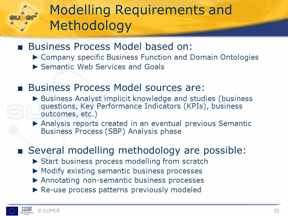 Modelling Requirements and Methodology