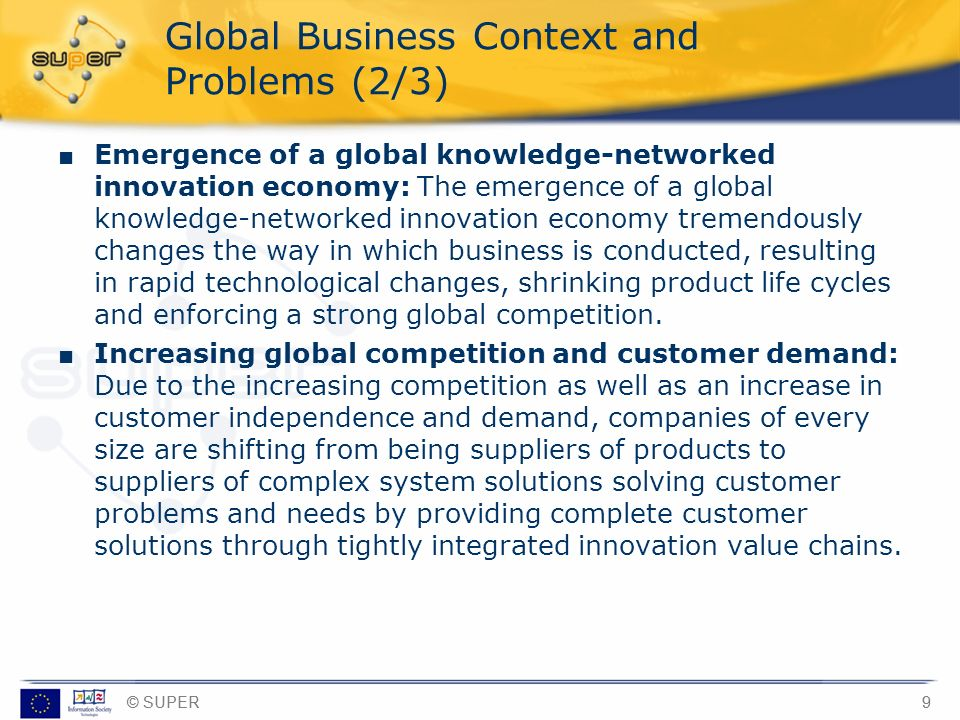 Global Business Context and Problems (2/3)