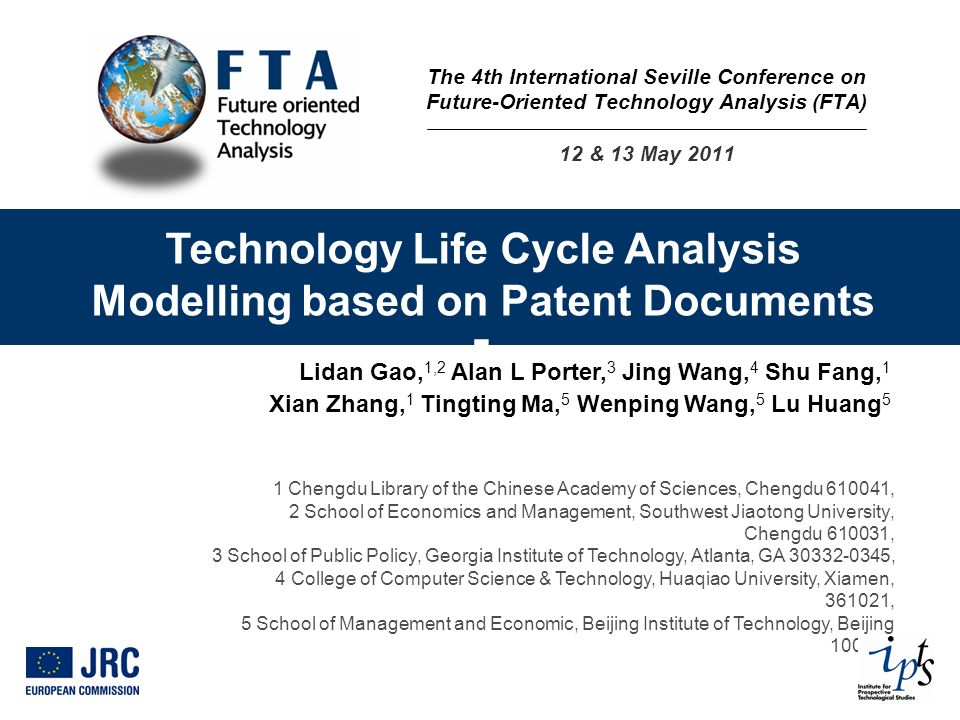 Technology Life Cycle Analysis Modelling based on Patent Documents