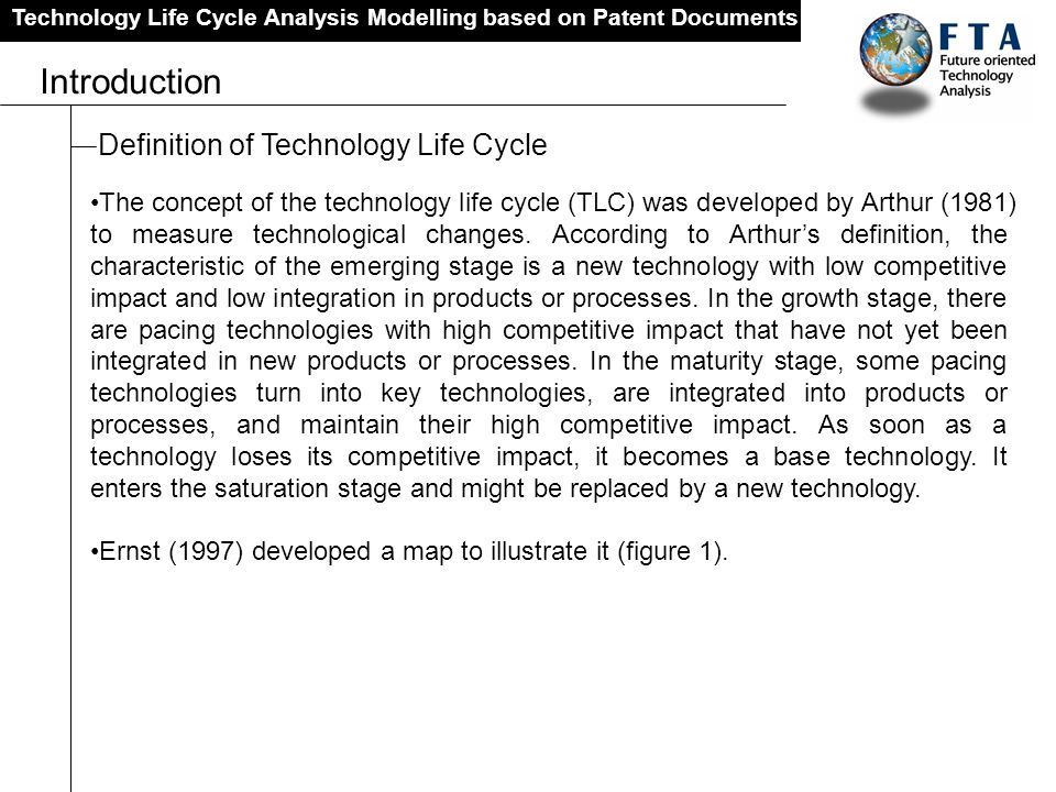 Introduction Definition of Technology Life Cycle