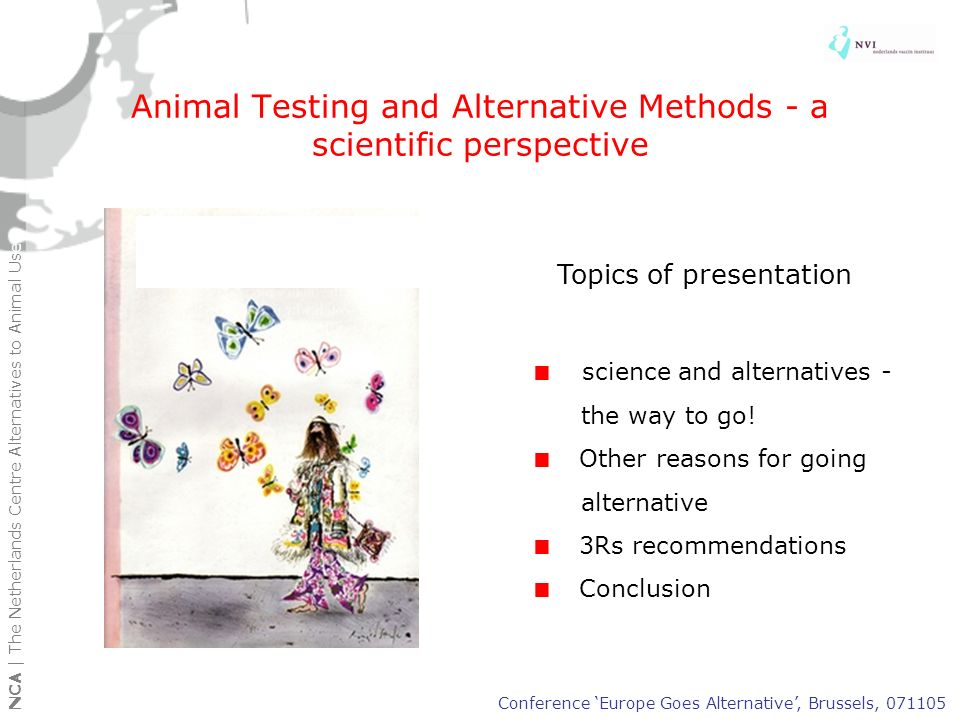 Animal Testing and Alternative Methods - a scientific perspective