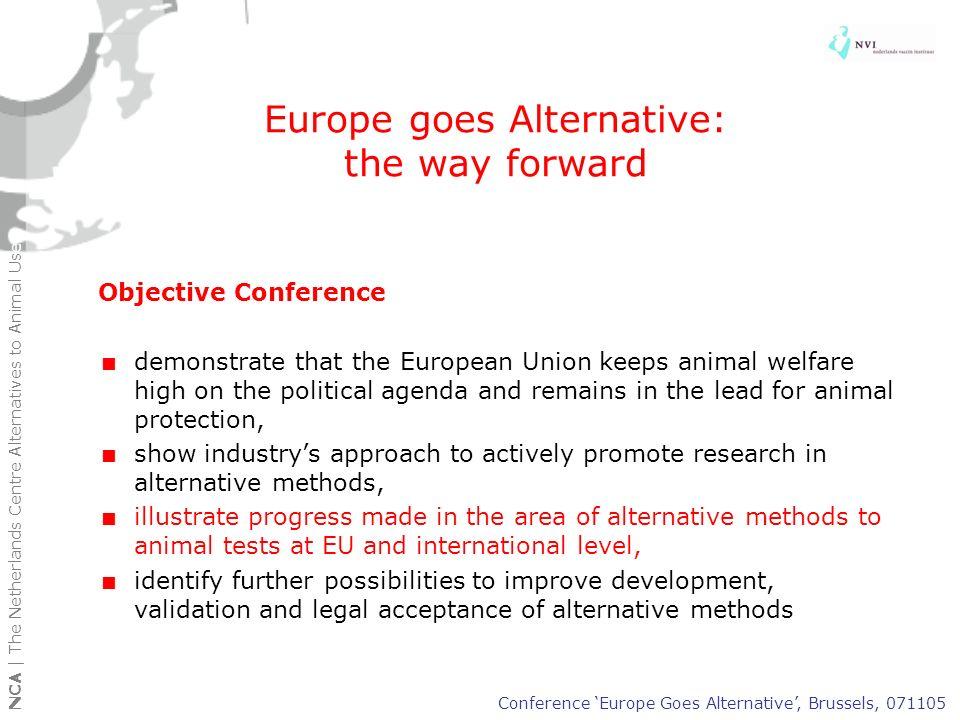 Europe goes Alternative: the way forward