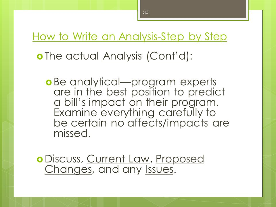 How To Analyze A Bill And Write A Strong Bill Analysis Ppt Video