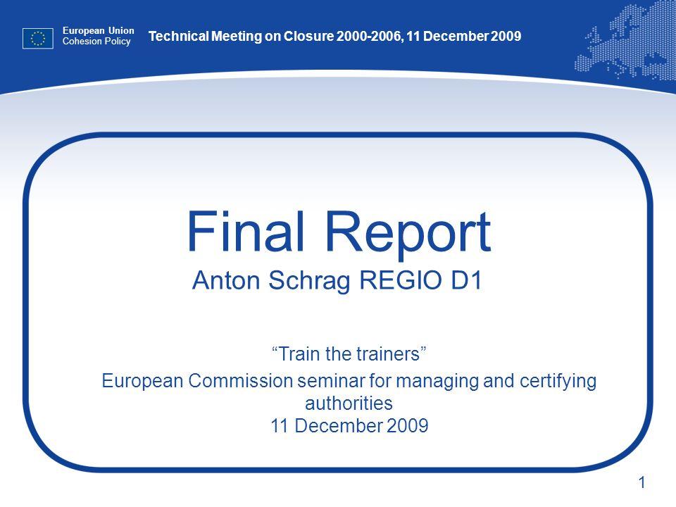 Final Report Anton Schrag REGIO D1
