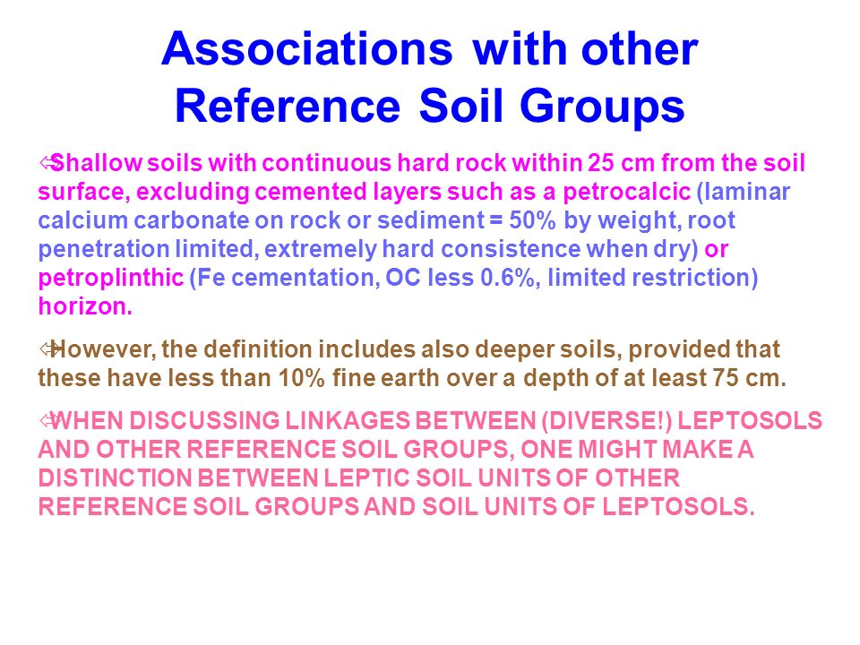 Associations with other Reference Soil Groups