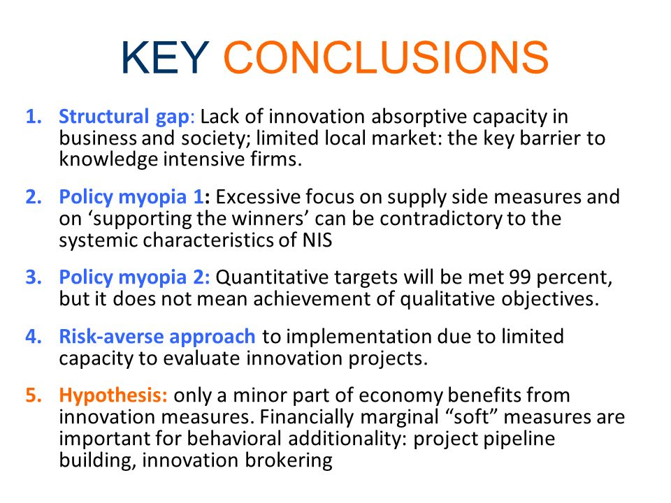KEY CONCLUSIONS Economic and financial downturn: