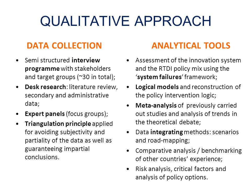QUALITATIVE APPROACH DATA COLLECTION ANALYTICAL TOOLS