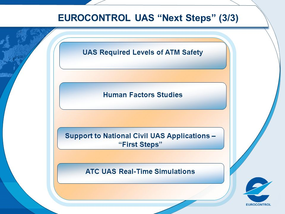 EUROCONTROL UAS Next Steps (3/3)