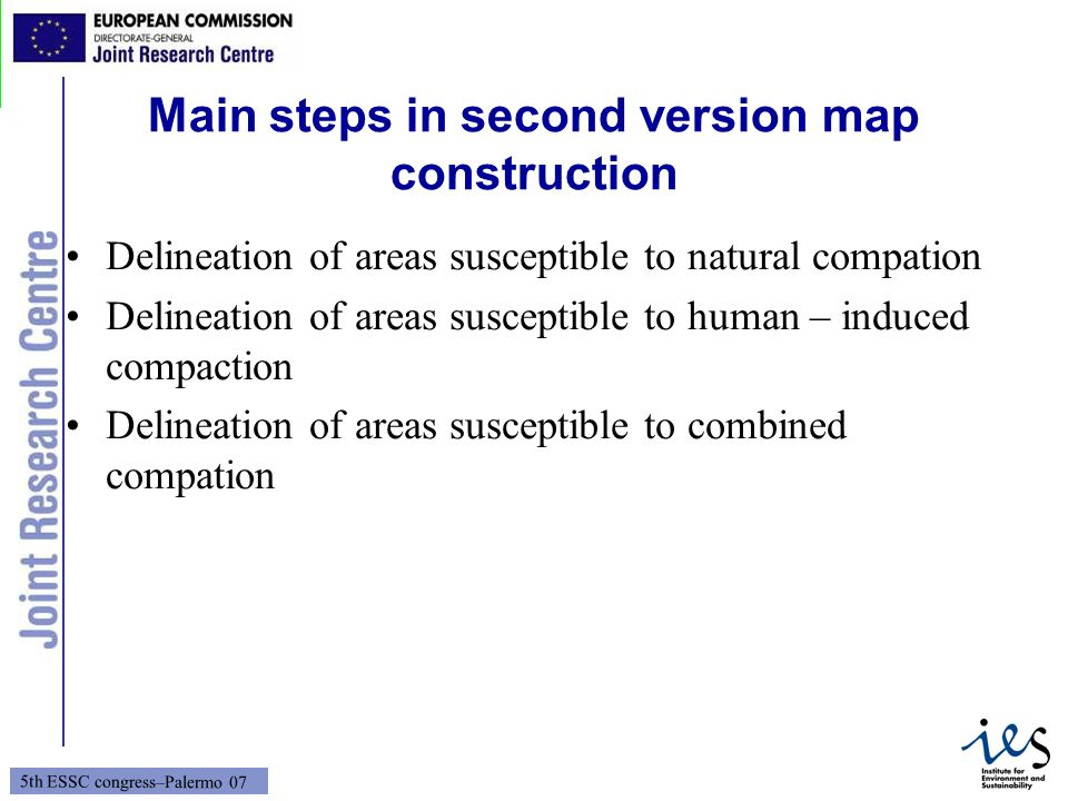 Main steps in second version map construction