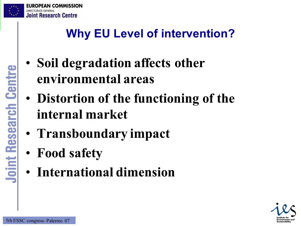 Why EU Level of intervention