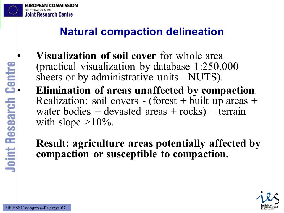 Natural compaction delineation