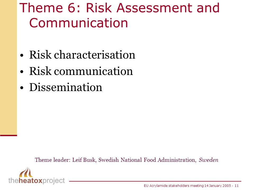 Theme 6: Risk Assessment and Communication